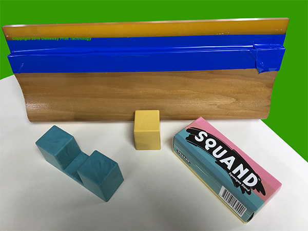 Keeping your squeegees clean & tidy with blue tape