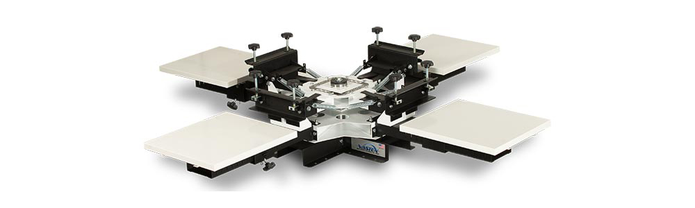 Vastex V100 4 Station 4 Colour Tabletop Screen Printing System