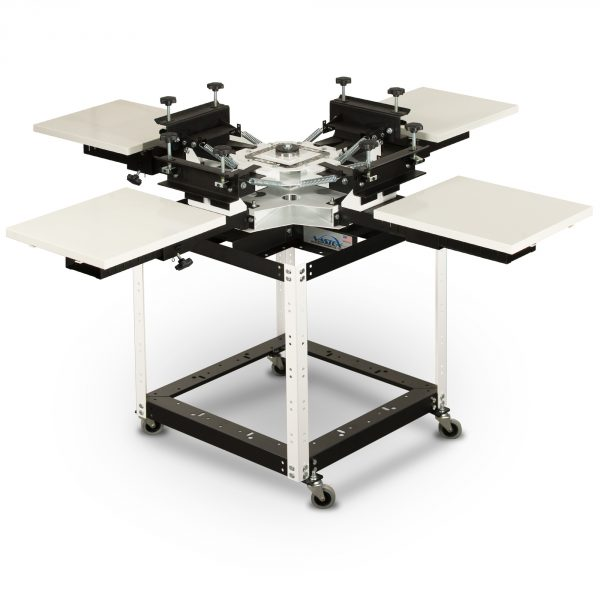 Vastex V100 4 Station 4 Colour Tabletop Screen Printing System With Optional Stand System