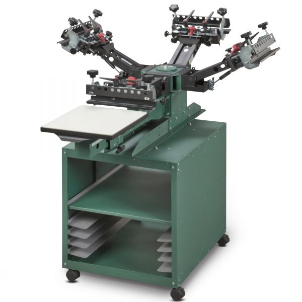 Vastex V2000 1 Station 4 Colour Screen Printing System With Storage Trolley