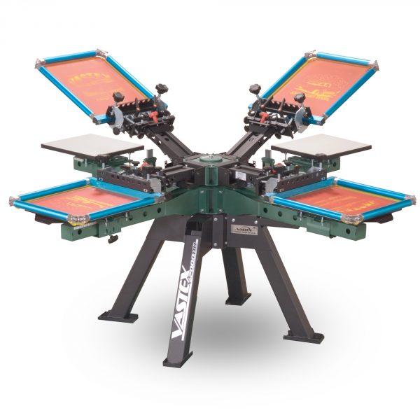 Vastex V2000 4 Station 4 Colour Screen Printing Carousel