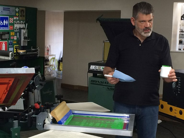 Screen Printing Course in Lancashire with Douglas Grigar