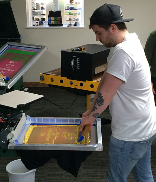 Screen Printing Classes with Master Screen Printer Douglas Grigar