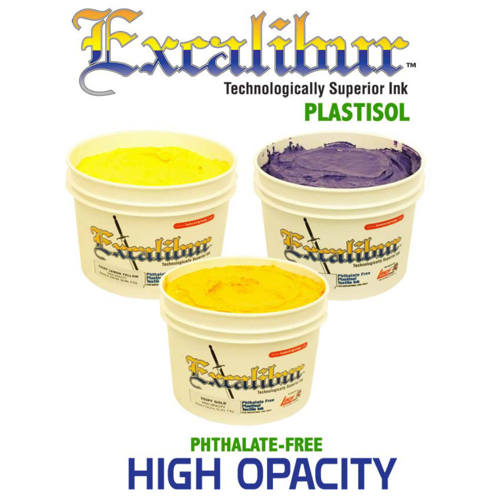 Lancer Excalibur High Opacity Plastisol Screen Printing Ink
