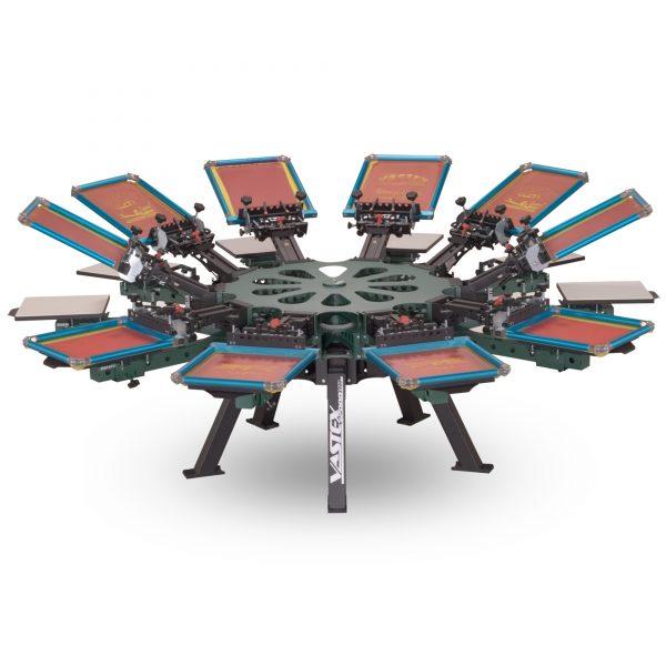 Vastex V2000 10 Station 10 Colour Screen Printing Carousel