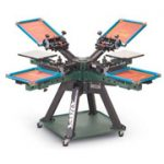Vastex V2000 4 Station 4 Colour Screen Printing Carousel